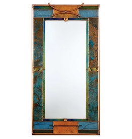LIGHT IMAGES GLASS MALACHITE MIRROR
