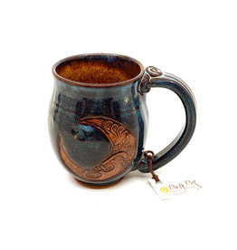 DIRTY DOG POTTERY BLUE MOON I MUG