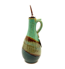DIRTY DOG POTTERY MULTI-COLOR II OIL DECANTER