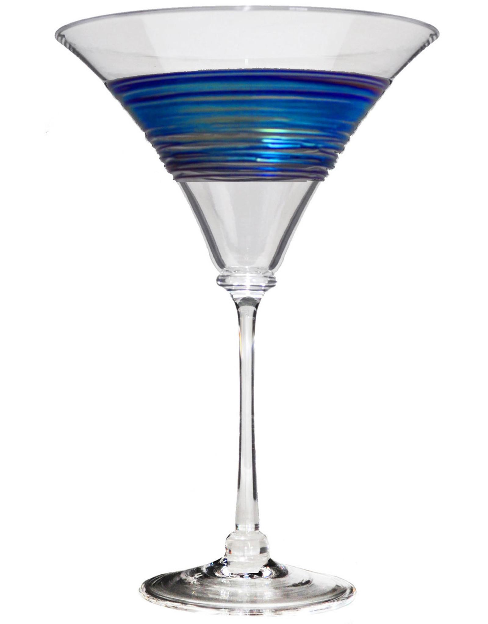 ROMEO GLASS CLEAR RAINBOW SPUN MARTINI GLASS