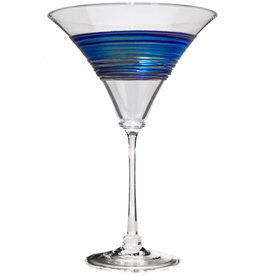 ROMEO GLASS CLEAR RAINBOW SPUN MARTINI GLASS