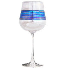 ROMEO GLASS CLEAR RAINBOW SPUN WINE GLASS