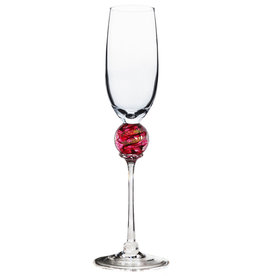 ROMEO GLASS RUBY PLANET FLUTE GLASS