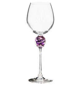 ROMEO GLASS AMETHYST PLANET WINE GLASS