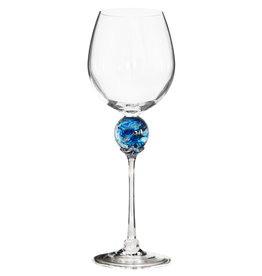 ROMEO GLASS TURQUOISE PLANET WINE GLASS