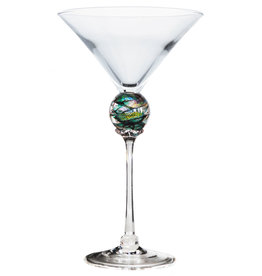 ROMEO GLASS GREEN PLANET MARTINI GLASS