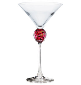 ROMEO GLASS RUBY PLANET MARTINI GLASS