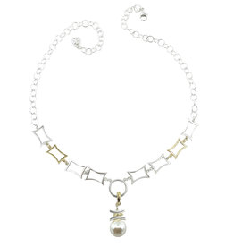 ARLEE KASSELMAN PEARL MIXED METAL NECKLACE