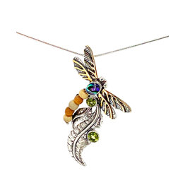 ZEALANDIA IRIDESCENCE DRAGONFLY NECKLACE