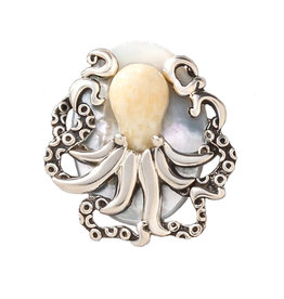 ZEALANDIA OCTOPUS TREASURE PIN/PENDANT