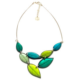 ORIGIN JEWELRY A-SYMMETRY LEAVES NECKLACE