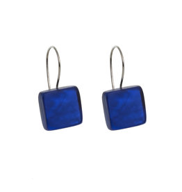 ORIGIN JEWELRY BLUE SQUARE EARRINGS
