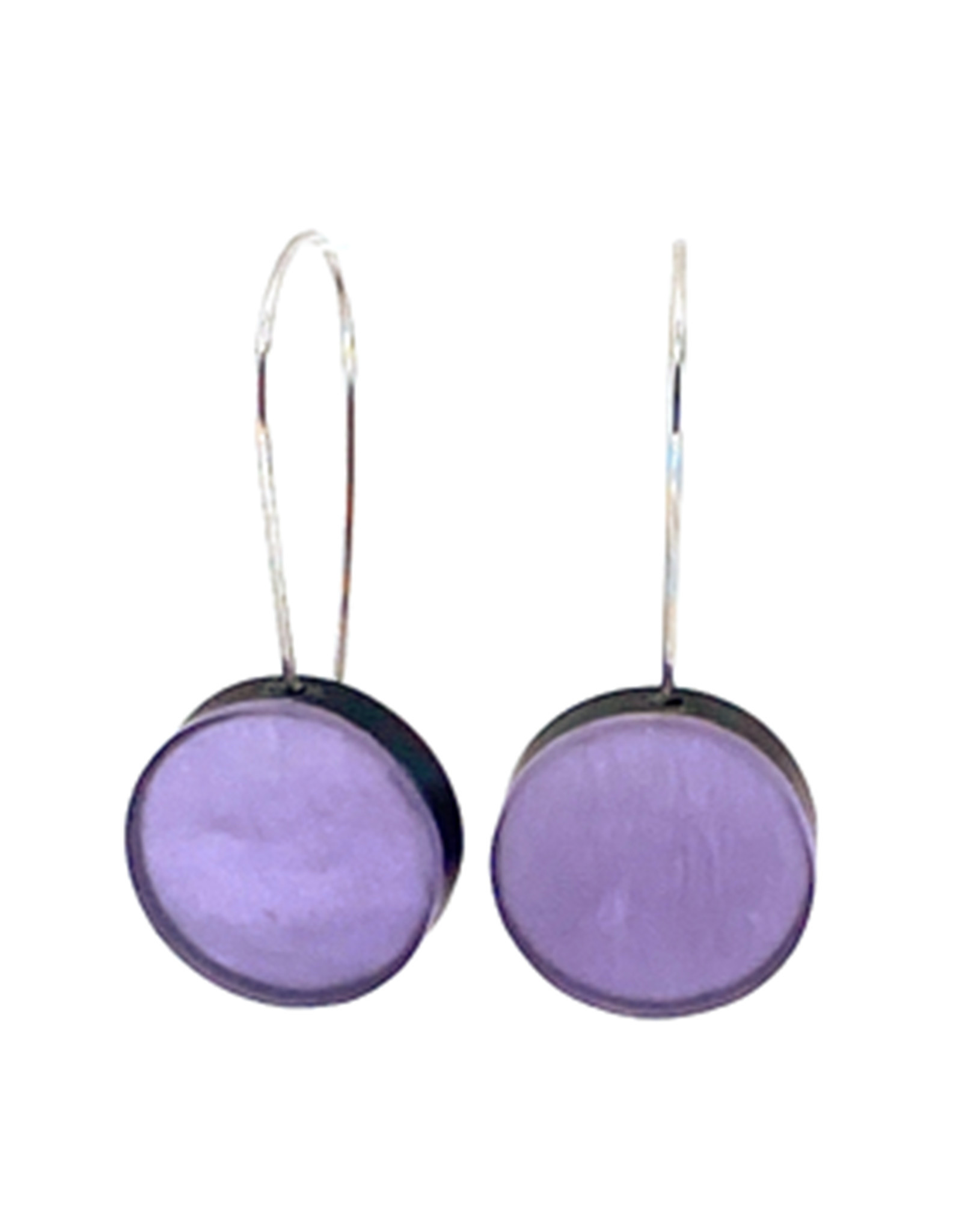 ORIGIN JEWELRY LAVENDER DISK EARRINGS
