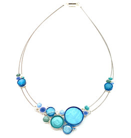 ORIGIN JEWELRY BLUE MULTI-DOTS NECKLACE