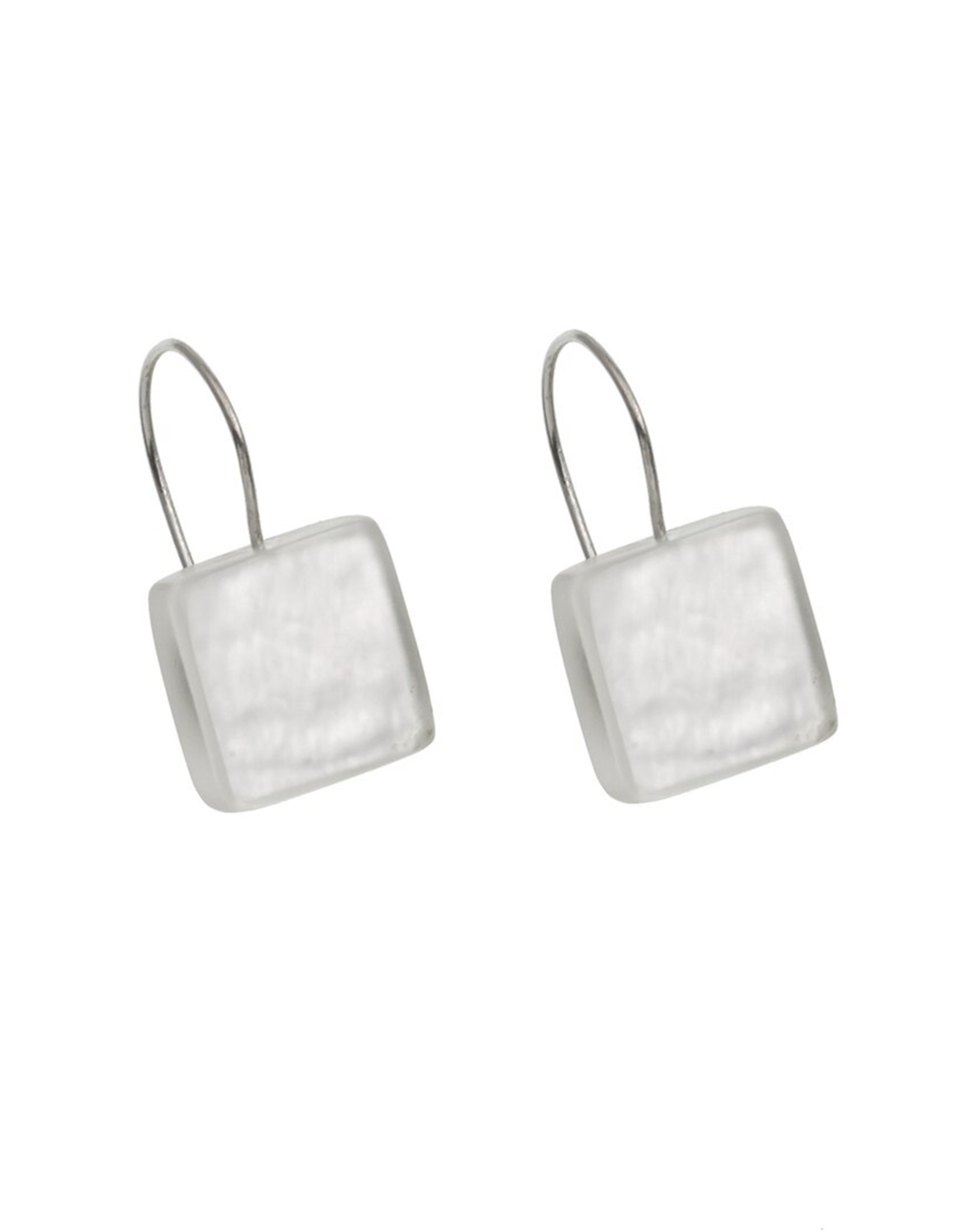 ORIGIN JEWELRY WHITE SQUARE EARRINGS