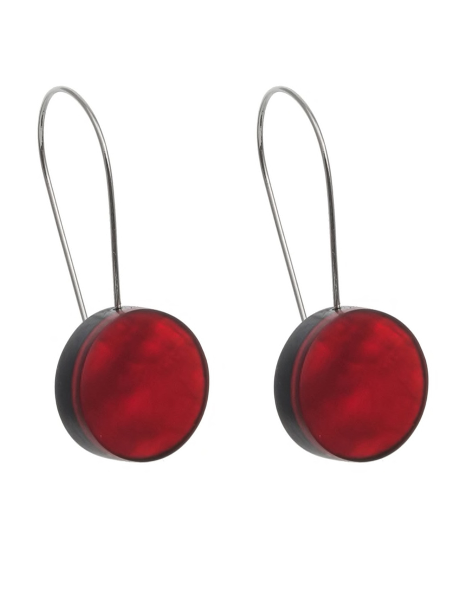 ORIGIN JEWELRY RED DISK EARRINGS