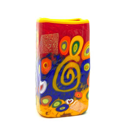 RED SWIRL BABY RECTANGLE VASE