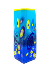 MAD ART PERIWINKLE SMALL SQUARE VASE