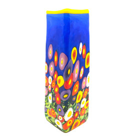 BLUE SKY WILDFLOWER MEDIUM SQUARE VASE