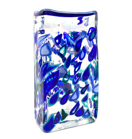 RAINBOWS & RAINDROPS RECTANGLE VASE
