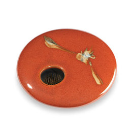 GEORGETOWN POTTERY ROUND RED ZEN IKEBANA
