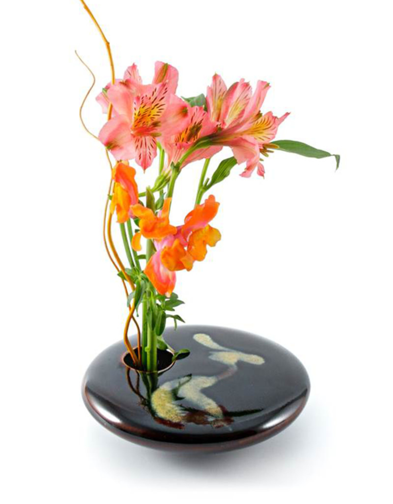 GEORGETOWN POTTERY SQUARE YELLOW WAVE IKEBANA