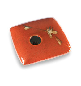 GEORGETOWN POTTERY SQUARE RED ZEN IKEBANA
