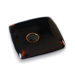 GEORGETOWN POTTERY SQUARE BLACK IKEBANA