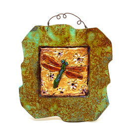 PAPER & STONE SMALL DRAGONFLY WALL PLAQUE