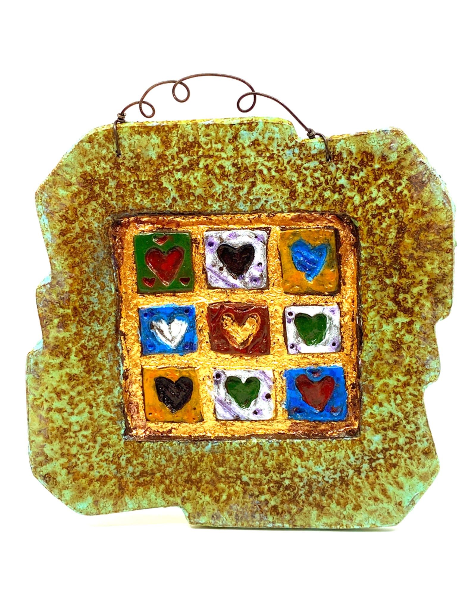PAPER & STONE HEART QUILT WALL PLAQUE