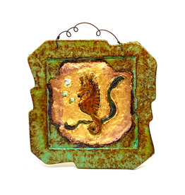 PAPER & STONE SMALL SEAHORSE WALL PLAQUE