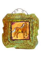 PAPER & STONE LUCKY HORSE WALL PLAQUE