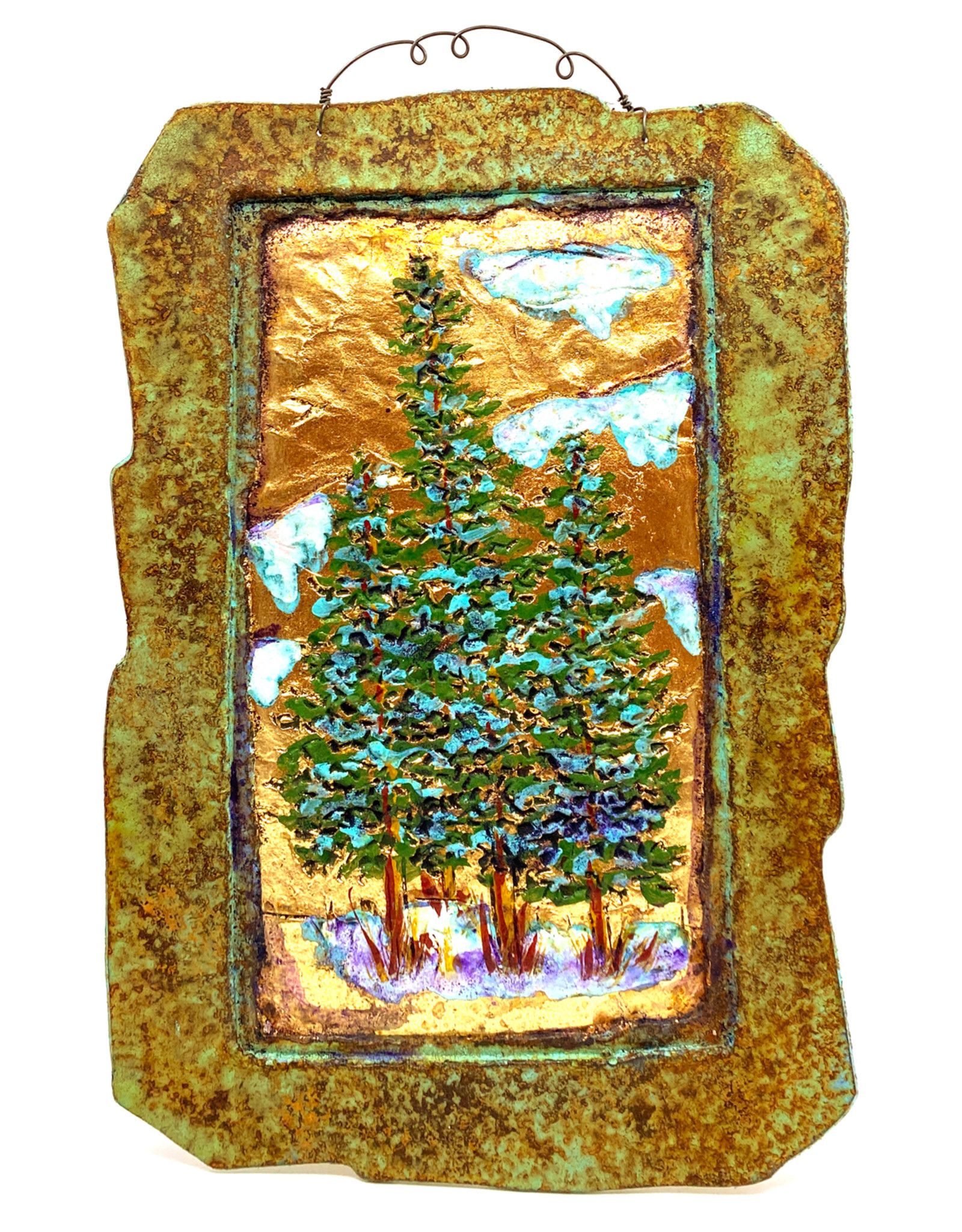 PAPER & STONE TRIPLE PINES WALL PLAQUE