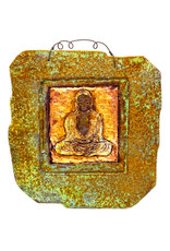 PAPER & STONE BUDDHA WALL PLAQUE