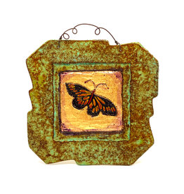 PAPER & STONE SMALL MONARCH BUTTERFLY WALL PLAQUE