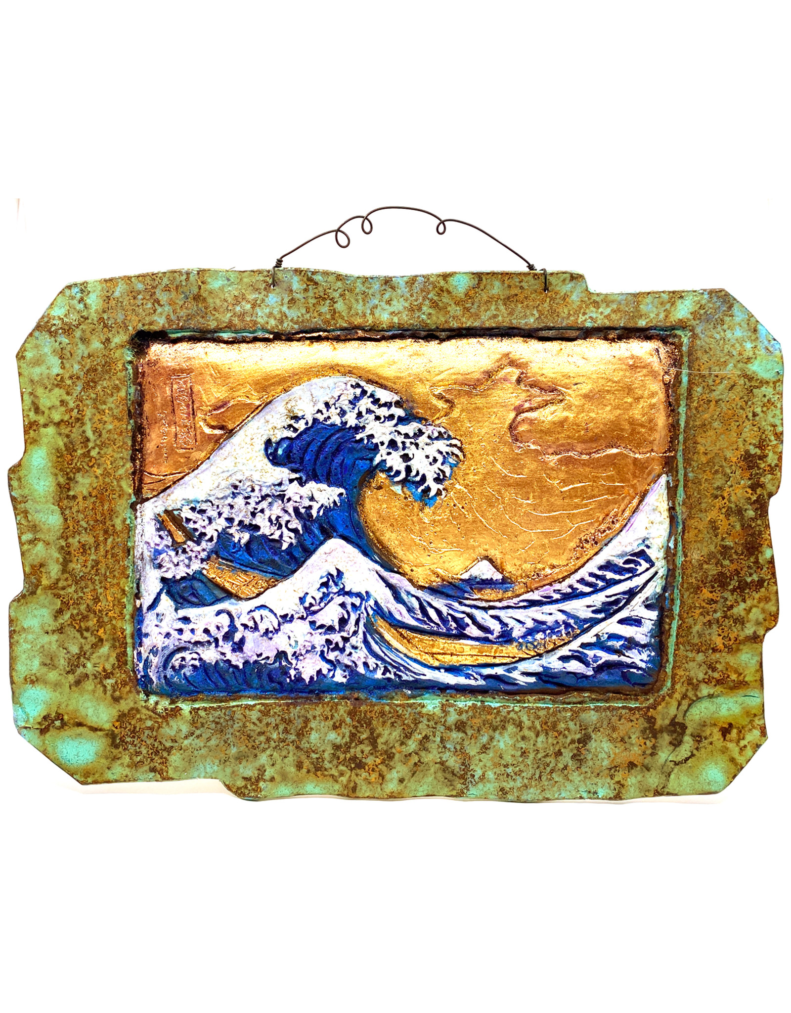 PAPER & STONE GREAT WAVE WALL PLAQUE