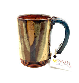 DIRTY DOG POTTERY MULTI-COLOR MUG