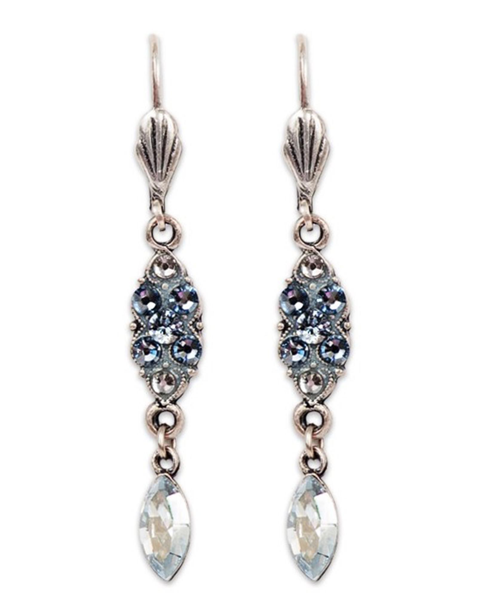 ANNE KOPLIK DESIGNS BLUE SHADES OF WINTER EARRINGS