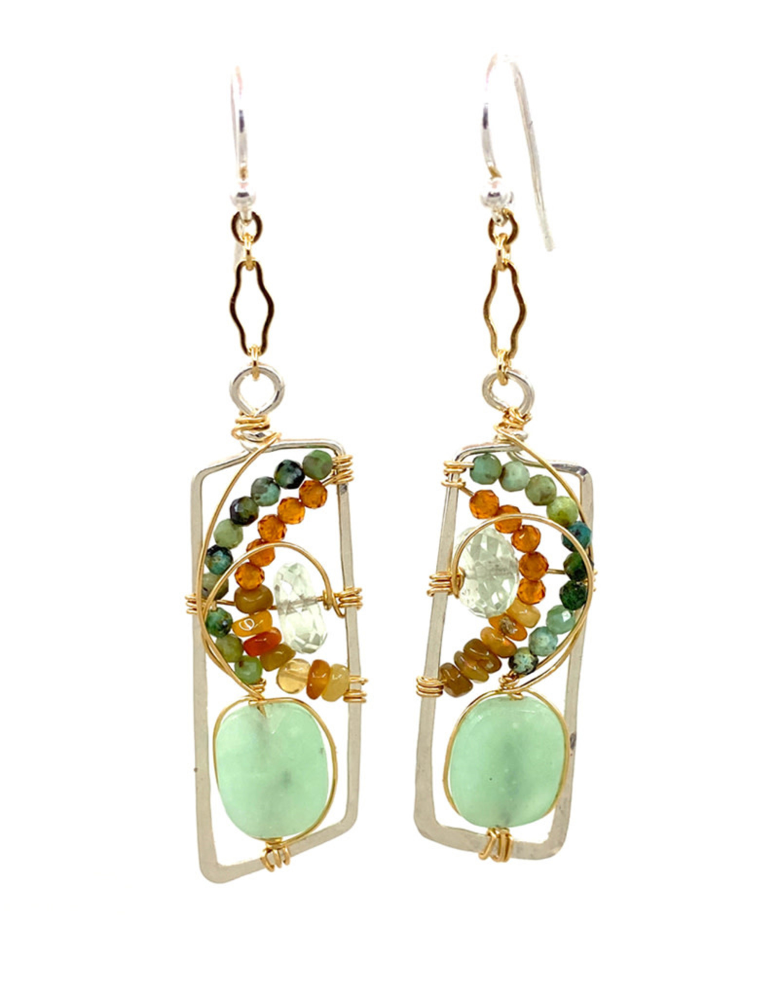 ART BY ANY MEANS MULTI-GEM ECHO EARRINGS