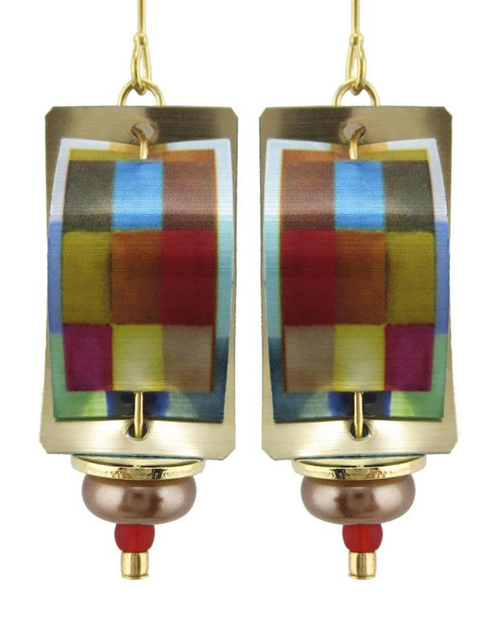 SINGERMAN & POST COLORFUL RECTANGLES EARRINGS