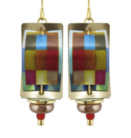 COLORFUL RECTANGLES EARRINGS