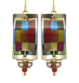 SINGERMAN & POST COLORFUL RECTANGLES EARRINGS