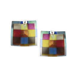 MULTI-COLOR SQUARES EARRINGS