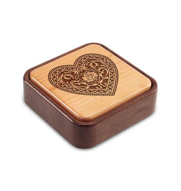 HEARTWOOD CREATIONS FILIGREE HEART FLIP-TOP PHOTO BOX