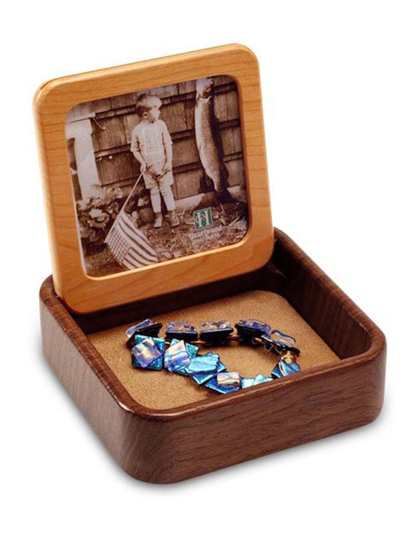 HEARTWOOD CREATIONS CATS FLIP-TOP PHOTO BOX
