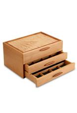 HEARTWOOD CREATIONS CASCADE I 2-DRAWER JEWELRY BOX