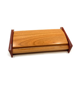 MIKUTOWSKI WOODWORKING CHERRY & PADUAK KEEPSAKE TREASURE BOX