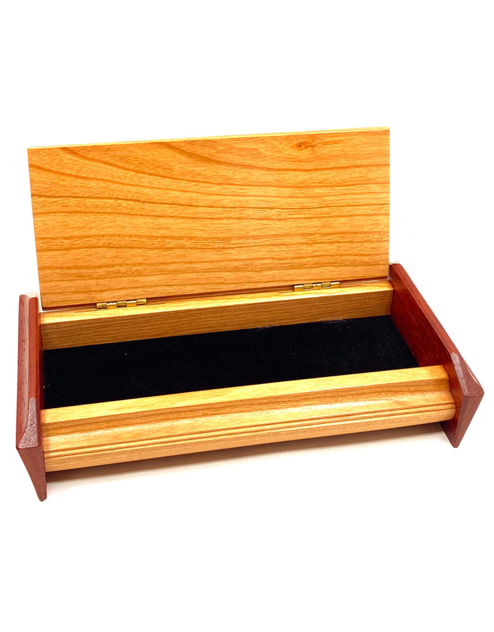 MIKUTOWSKI WOODWORKING CHERRY & PADUAK KEEPSAKE TREASURE BOX