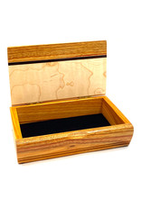 MIKUTOWSKI WOODWORKING MAPLE & CANARY TREASURE BOX