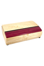 MIKUTOWSKI WOODWORKING MAPLE & PURPLE HEART TREASURE BOX
